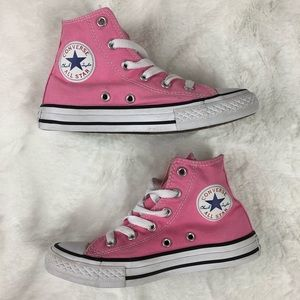 Converse Kids Pink High Tops